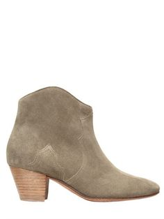"ISABEL MARANT - BOTTINES EN DAIM ""DICKER"" ETOILE 50MM - TAUPE"
