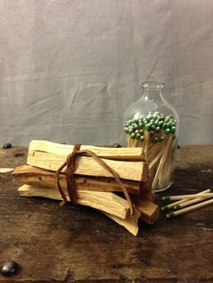 """Palo Santo  """"Holy Stick""""  from Ecuador  is a natural wood aromatic incense used for centuries by the Incas and indigenous  people of the Andes for purifying and cleansing.   The Palo Santo sticks are sustainably harvested from naturally fallen trees"""
