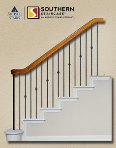 Check out this staircase layout I created using StairArtist at Direct Stair Parts. Staircase Railing Design, Stair Design, Iron Balusters, Built In Bookcase, Home Comforts, Entry Foyer, Home Decor Inspiration, Home Remodeling, Ladders