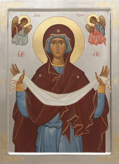 Over 600 hand-painted Orthodox icons to order from the Catalog of St Elisabeth Convent. Commission a painted icon of Christ, the Mother of God, Orthodox saints and Feasts Religious Images, Religious Icons, Religious Art, Blessed Mother Mary, Blessed Virgin Mary, Paint Icon, Religion Catolica, Byzantine Icons, Virgo