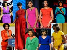 FLOTUS is all about bold colors.