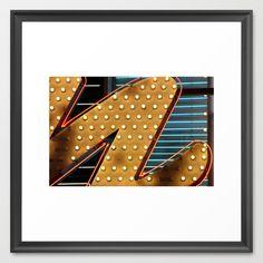 Vegas Neon Framed Art Print