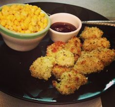 A Little Pink in the Cornfields: Healthy chicken nugget recipe