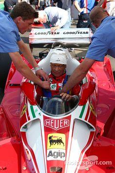 Niki Lauda, Mercedes Non-Executive Chairman is reunited with his Ferrari 312T2 at Austrian GP - Formula 1 Photos