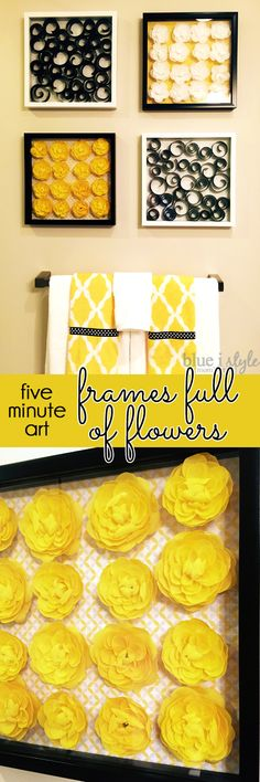 SO CUTE & EASY! Shadow box frames full of silk flowers might just be the cutest DIY art you can create in less than five minutes!