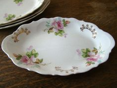 Perfect for Mother's Day! Set of 4 Shabby Chic ViNtAgE Floral Dishes by SoaringHeartVintage. #mothersday