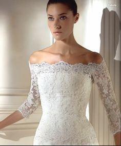 lace wedding dress with sleeves - Cerca con Google