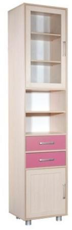 Мебель маркет Орион N1 со стеклом Дуб молочный розовый  — 7090р.