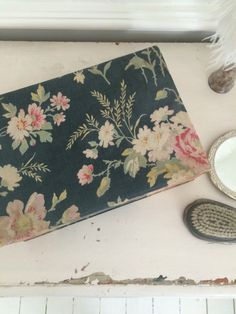SOLD Antique French fabric covered box