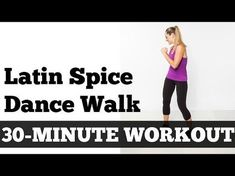 "Latin Spice Walking Workout Add a little ""spice"" to your indoor walking workout with this Zumba-inspired routine (white lady version of ""Latin spice"") 7 Day Workout Plan, Workout Mix, 30 Minute Workout, Workout Plan For Beginners, Workout Plans, Basic Workout, Walking Training, Walking Exercise, Walking Workouts"