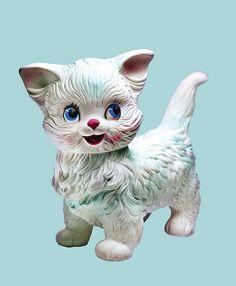 Vintage Cat, Vintage Love, Vintage Dolls, Vintage Images, Kitsch, Chinoiserie, Plywood Furniture, Hollywood Regency, Design Tisch
