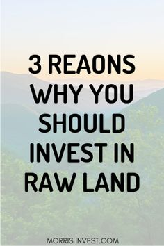 Investing in raw land can be extremely lucrative, so let's dive in and check out these 3 reasons why this type of investment is a smart financial move. Real Estate Investor, Real Estate Marketing, How To Buy Land, How To Make Money, Homestead Land, Cheap Land, Investing In Land, House Information, Living Off The Land