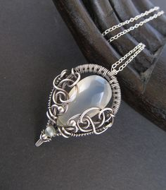 light green chalcedony necklace by ~annie-jewelry on deviantART