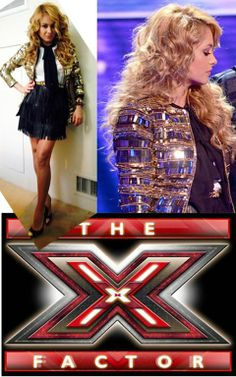 Paulina Rubio wearing a black leather fringe skirt from GlamRock, styled by Alejandro Peraza.   NEW: Celebrity Style Inspired- GlamRock Ready-To-Wear collection coming exclusively at www.ShopGlamRock.com