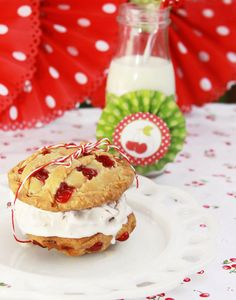 Is It Pie? Is It a Cookie? It's Both! Cherry Pies 'n' Ice Cream Sandwiches The Creative Orchard  (OMG.  omg.)