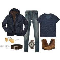 Rugged outdoorsman, created by keri-cruz on Polyvore