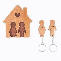 Wooden Key Holder, Craft Room Design, Triangle, Sweet Home, Cricut, Sculpture, Pillows, Crafts, Diy