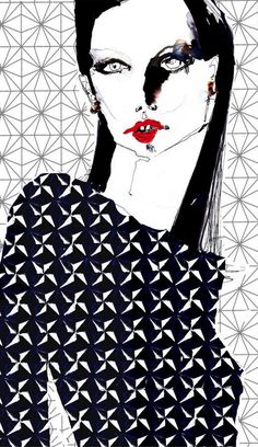8e44cb15604 Fashion illustration by Eleanor Rose Shenton.