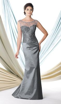 Montage 114900 Taffeta Mother of the Bride Dress with Shawl