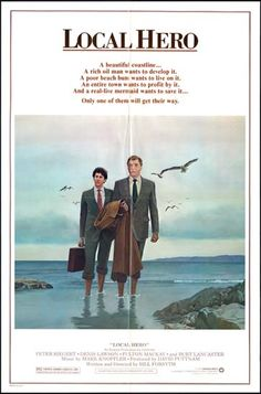 Local Hero posters for sale online. Buy Local Hero movie posters from Movie Poster Shop. We're your movie poster source for new releases and vintage movie posters. Mark Knopfler, Movies Of The 80's, Good Movies, Hero Movie, Movie Tv, Denis Lawson, Heroes Peter, Hero Poster, Poster Poster