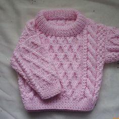 Aran baby sweater