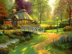 English cottage paintings - Google Search