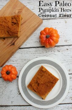 Paleo Pumpkin Bars with Coconut Flour | Paleo Desserts ‪#‎ad‬ http://bit.ly/PaleoPumpkinBars Everywhere I look there are pumpkin recipes calling to me! Everyone is drinking pumpkin lattes and making pumpkin cupcakes. It's enough to tempt even the most dedicated Paleo followers. This weekend, I decided I needed to come up with some Paleo desserts that were relatively easy to make.