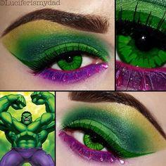 Hulk inspired makeup