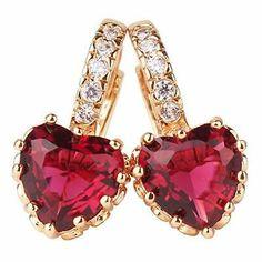 Candelabros Ruby /& con incrustaciones de cristal de Zafiro Corazón Colgante GLAM Collar de declaración