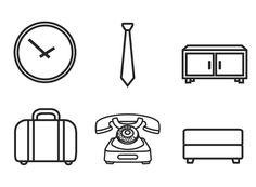 Minimal Interior Design Symbols