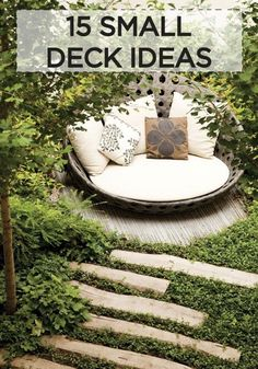 5 great ideas on how to style and organize a small backyard patio.