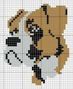 Blackwork Embroidery, Hand Embroidery Stitches, Cross Stitch Embroidery, Bead Loom Patterns, Beading Patterns, Cross Stitch Patterns, Pixel Pattern, Dog Pattern, Cross Stitch Cards