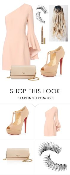 """Без названия #13"" by raisa-korpenko ❤ liked on Polyvore featuring beauty, Christian Louboutin, Exclusive for Intermix, Salvatore Ferragamo and Trish McEvoy"
