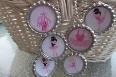Set of  6 Ballerina Dancer Ballet Party Favors by ChicBowsNmore, $12.30