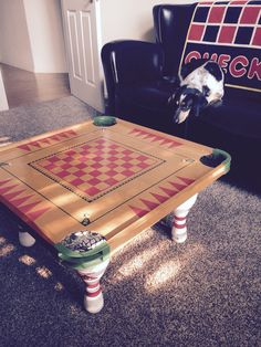 Bowling Pins Carrom Board Fun Game Table
