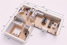 CASTELLON DONACASA 75m2 , Casas de paneles prefabricados con entramado ligero