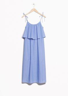 & Other Stories | Layered Sleeveless Organic Poplin Dress