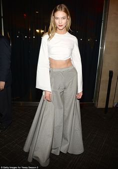 Showstopper! Karlie attended Kanye West's Yeezy 3collection and album launch in New York City on Thursday