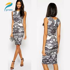 Find More Dresses Information about 2015 High Street Summer Style Dresses Flower Print Casual Elegant Vintage Tunic Women Dress Midi Elegant Pencil Dress HW0262 ,High Quality dress hip,China dress tent Suppliers, Cheap dress ol from Proto Nail Art & Beauty Products Wholesales on Aliexpress.com