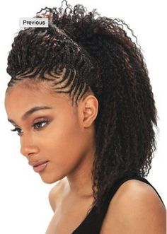 Model Model Glance Synthetic Braiding Hair - Brazilian Curl