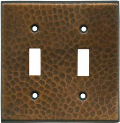 Hammered in Antique Copper Light Switch Plates, Outlet Covers, Wallplates
