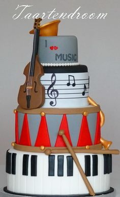 Musical Instruments Cake please. I love this with everything i can. (Me in a nutshell, baking and music)