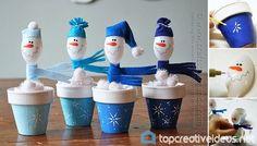 DIY Plastic Spoon Snowman - http://topcreativeideas.net/diy-plastic-spoon-snowman.html