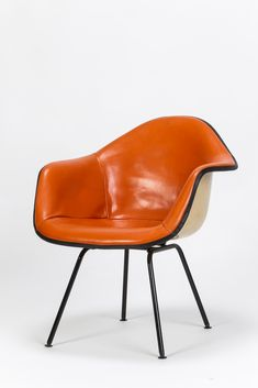 Eames Armchair Leather Orange
