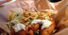 Vancouver Cheap Eats: Truly terrific takeout that won't cost you a ton. Fried Chicken, Vancouver Restaurants, Pork Sandwich, Cod Fish, Outdoor Food, Grilled Pork, Fish And Chips, Take Out