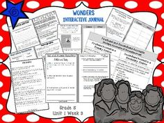 *Blackline Version *This 5th grade blackline interactive journal is aligned to Common Core and to the McGraw Hill Wonders series for Unit 1-Week 3. This highly INTERACTIVE journal is ideal for teaching all of his week's skills in a powerful, student-friendly way!Complete Set Includes:Essential Question/Build Background Graphic OrganizerMini Anchor Charts for Rereading, Homographs, Genre (Narrative Nonfiction), Firsthand vs.
