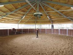 Suspended horse walker- this will be my covered round pen, I love the fact that there's a walker on the outside. It's 2 for 1!