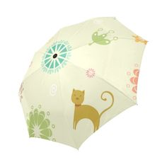 Pig in Play Ground with Grass Folding Rain Umbrella Parasol Windproof Travel Sun Umbrella Compact