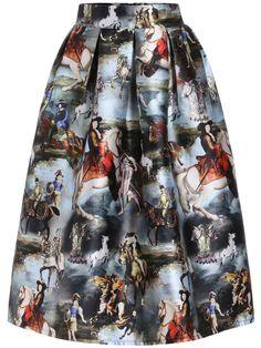 Horse Print Zipper Skirt 22.33
