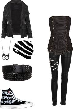 """untitled #36"" by bvbsarmygal ❤ liked on Polyvore (Everything but the shirt and belt)"